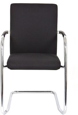 Bezoekersstoel Van Hilten Huislijn BG24 - Oasis Zwart (9111) - Kunststof Vloerglijder (voor zachte ondergrond)-2