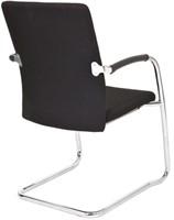 Bezoekersstoel Van Hilten Huislijn BG24 - Oasis Zwart (9111) - Kunststof Vloerglijder (voor zachte ondergrond)-3