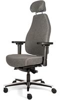 Bureaustoel Bio Seat X HR met drukverlagende zitting en instelbaar mechaniek, Wolvilt Middengrijs 602
