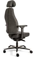 Bureaustoel Bio Seat X HR met drukverlagende zitting en instelbaar mechaniek, Wolvilt Middengrijs 602-3