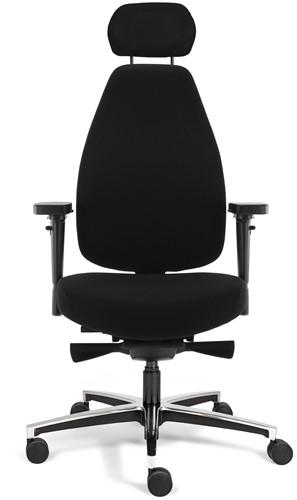 Bureaustoel Bio Seat X HR met drukverlagende zitting en instelbaar mechaniek, Stof Mirage Zwart 651-2