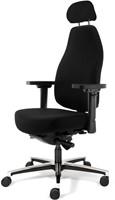 Bureaustoel Bio Seat X HR met drukverlagende zitting en instelbaar mechaniek, Stof Mirage Zwart 651