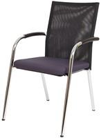 Bezoekersstoel Van Hilten Huislijn BN23 - Oasis Grijs (9114)