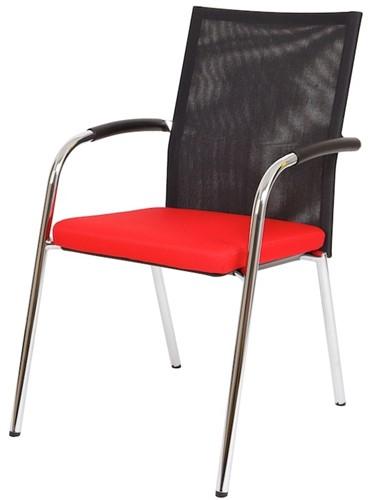 Bezoekersstoel Van Hilten Huislijn BN23 - Oasis Rood (9555)