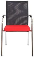 Bezoekersstoel Van Hilten Huislijn BN23 - Oasis Rood (9555)-2