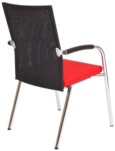 Bezoekersstoel Van Hilten Huislijn BN23 - Oasis Rood (9555)-3