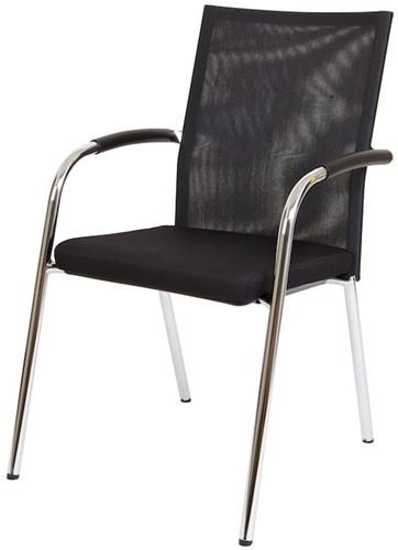 Bezoekersstoel Van Hilten Huislijn BN23 - Oasis Zwart (9111)
