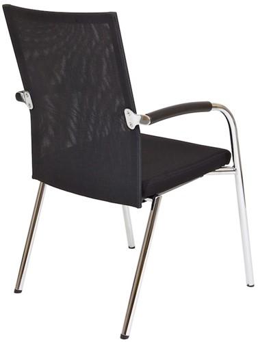 Bezoekersstoel Van Hilten Huislijn BN23 - Oasis Zwart (9111)-3