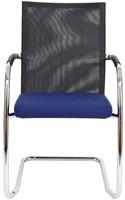 Bezoekersstoel Van Hilten Huislijn BN24 - Oasis Blauw (9212) - Geen Vloerglijder-2