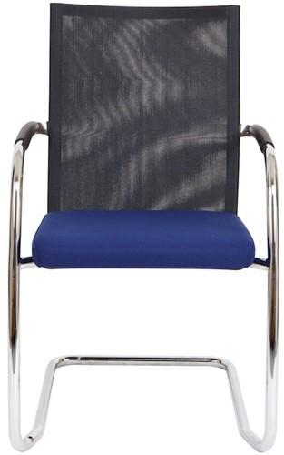 Bezoekersstoel Van Hilten Huislijn BN24 - Oasis Blauw (9212) - Kunststof Vloerglijder met vilt (voor harde ondergrond)-2
