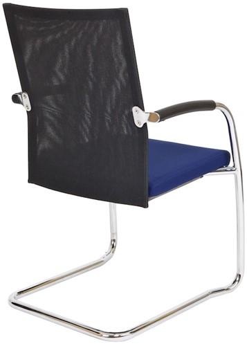 Bezoekersstoel Van Hilten Huislijn BN24 - Oasis Blauw (9212) - Kunststof Vloerglijder (voor zachte ondergrond)-3