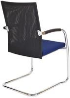 Bezoekersstoel Van Hilten Huislijn BN24 - Oasis Blauw (9212) - Kunststof Vloerglijder met vilt (voor harde ondergrond)-3
