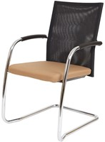 Bezoekersstoel Van Hilten Huislijn BN24 - Oasis Bruin (9766) - Geen Vloerglijder