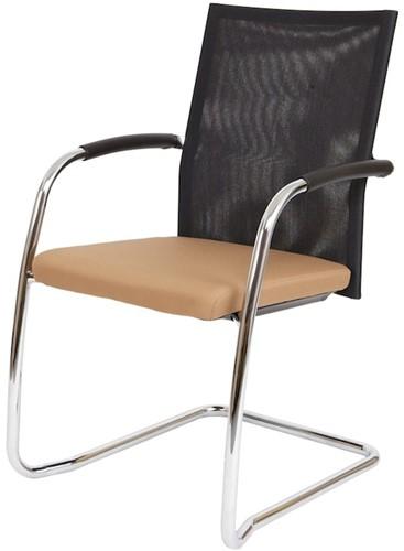 Bezoekersstoel Van Hilten Huislijn BN24 - Oasis Bruin (9766) - Kunststof Vloerglijder (voor zachte ondergrond)