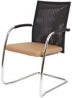 Bezoekersstoel Van Hilten Huislijn BN24 - Oasis Bruin (9766) - Kunststof Vloerglijder met vilt (voor harde ondergrond)