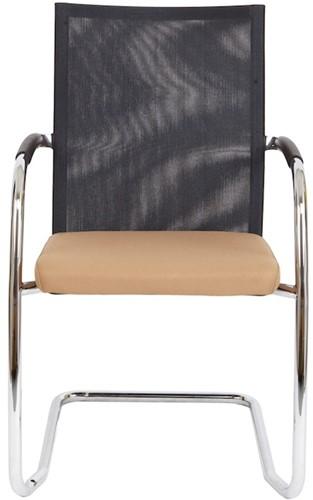 Bezoekersstoel Van Hilten Huislijn BN24 - Oasis Bruin (9766) - Kunststof Vloerglijder met vilt (voor harde ondergrond)-2