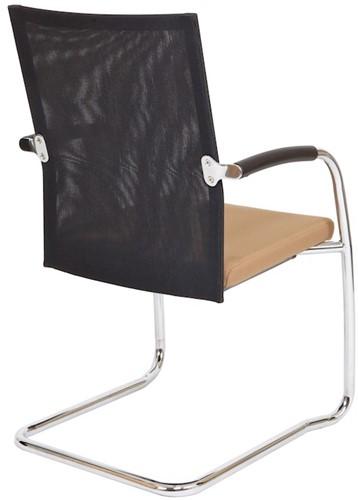 Bezoekersstoel Van Hilten Huislijn BN24 - Oasis Bruin (9766) - Kunststof Vloerglijder (voor zachte ondergrond)-3