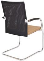 Bezoekersstoel Van Hilten Huislijn BN24 - Oasis Bruin (9766) - Kunststof Vloerglijder met vilt (voor harde ondergrond)-3
