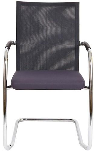 Bezoekersstoel Van Hilten Huislijn BN24 - Oasis Grijs (9114) - Kunststof Vloerglijder (voor zachte ondergrond)-2