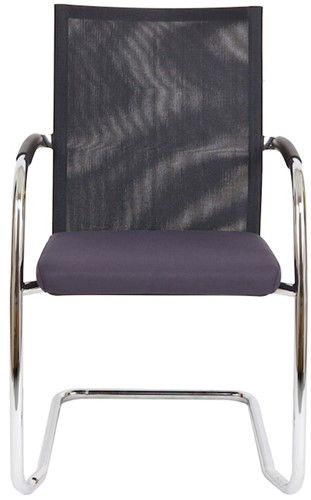 Bezoekersstoel Van Hilten Huislijn BN24 - Oasis Grijs (9114) - Kunststof Vloerglijder met vilt (voor harde ondergrond)-2