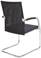 Bezoekersstoel Van Hilten Huislijn BN24 - Oasis Grijs (9114) - Kunststof Vloerglijder (voor zachte ondergrond)-3