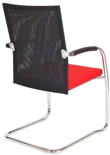 Bezoekersstoel Van Hilten Huislijn BN24 - Oasis Rood (9555) - Geen Vloerglijder-3