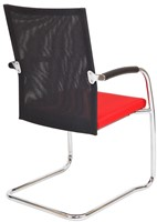 Bezoekersstoel Van Hilten Huislijn BN24 - Oasis Rood (9555) - Kunststof Vloerglijder (voor zachte ondergrond)-3