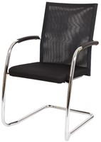 Bezoekersstoel Van Hilten Huislijn BN24 - Oasis Zwart (9111) - Geen Vloerglijder
