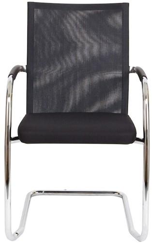 Bezoekersstoel Van Hilten Huislijn BN24 - Oasis Zwart (9111) - Kunststof Vloerglijder met vilt (voor harde ondergrond)-2