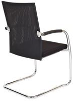 Bezoekersstoel Van Hilten Huislijn BN24 - Oasis Zwart (9111) - Geen Vloerglijder-3