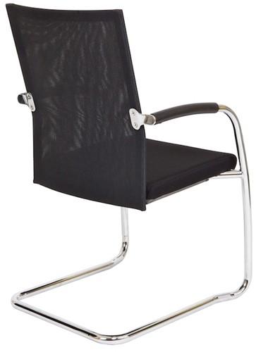Bezoekersstoel Van Hilten Huislijn BN24 - Oasis Zwart (9111) - Kunststof Vloerglijder (voor zachte ondergrond)-3
