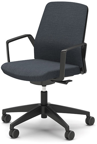 Bezoekersstoel Interstuhl Buddy 260B zwart / zwart stof Era