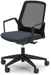 Bezoekersstoel Interstuhl Buddy 270B zwart / zwart stof Era