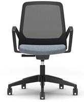 Bezoekersstoel Interstuhl Buddy 270B zwart / zwart stof Era-2