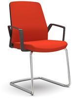 Bezoekersstoel Interstuhl Buddy 550B zwart / zwart stof Era-2