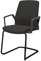 Bezoekersstoel Interstuhl Buddy 550B zwart / zwart stof Era