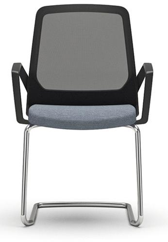 Bezoekersstoel Interstuhl Buddy 570B zwart / zwart stof Era-2