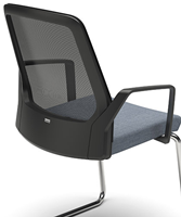 Bezoekersstoel Interstuhl Buddy 570B zwart / zwart stof Era-3