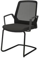 Bezoekersstoel Interstuhl Buddy 570B zwart / zwart stof Era