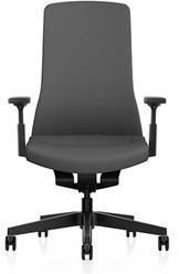 Bureaustoel Interstuhl Pure met 3D zitbeweging PU113  zwart / antraciet - Multifunctionele Wielen