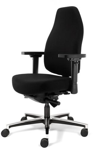 Bureaustoel Bio Seat X met drukverlagende zitting en instelbaar mechaniek, Stof Mirage Zwart