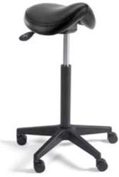 """Zadelkruk """"van Hilten Comfort' met smalle zitting in kunstleer met kunststof zwart voetkruis"""