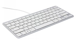 Toetsenbord R-Go compact zilver qwerty