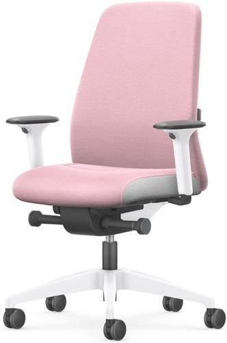 Bureaustoel Interstuhl New Every Interior Editions wit / stof Era - Light Pink-2