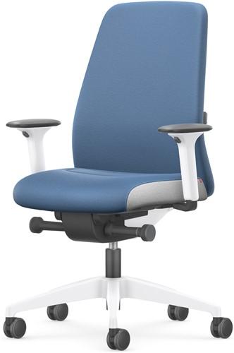Bureaustoel Interstuhl New Every Interior Editions wit / stof Era - Azure Blue-2