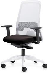Bureaustoel Interstuhl Every 182E wit / zwart