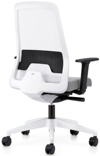 Bureaustoel Interstuhl New Every EV211 wit  / zwart stof Era-2