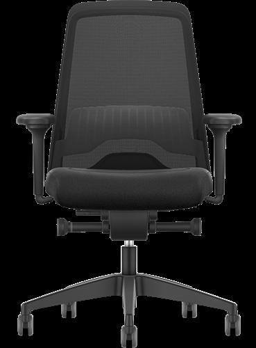 Bureaustoel Interstuhl New Every EV216  zwart / zwart stof Era incl. NPR Armleggers en Comfort zitting-2