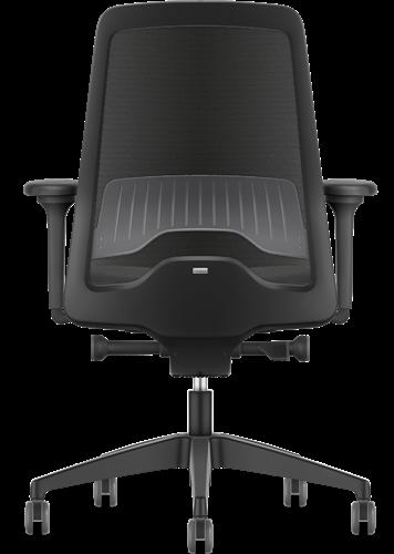 Bureaustoel Interstuhl New Every EV216  zwart / zwart stof Era incl. NPR Armleggers en Comfort zitting-3