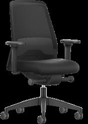 Bureaustoel Interstuhl New Every EV216  zwart / zwart stof Era incl. NPR Armleggers en Comfort zitting